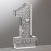 Number One Grandparent Personalized Keepsake Award - 16573