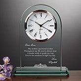 Personalized Glass Clock - Dearest Mother Poem - 16574