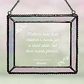 Dear Mom Personalized Glass Suncatcher - 16578