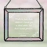 Dear Mom Personalized Glass Suncatcher - 16578