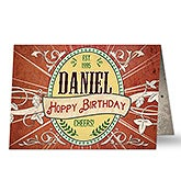 Personalized Father's Day Greeting Card - His Brew - 16590