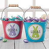 Personalized easter gifts for kids personalizationmall personalized mini treat bucket easter bunny 16593 negle Image collections