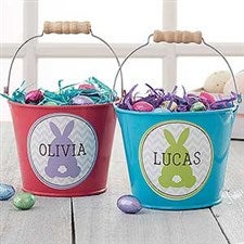 Personalized Mini Treat Bucket - Easter Bunny - 16593
