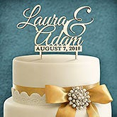 Personalized Wood Wedding Cake Toppers - Our Wedding Day - 16597D
