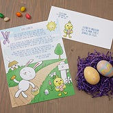 Personalized Letter From The Easter Bunny - 16605