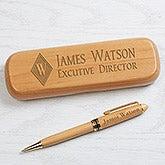 Executive Monogram Personalized Pen Set - Alderwood - 16622