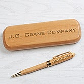 Personalized Pen Set - Engraved Alderwood Executive Series - 16626