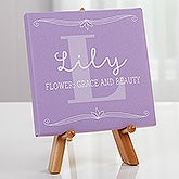 Personalized Tabletop Canvas Prints for Her - My Name Means - 16629