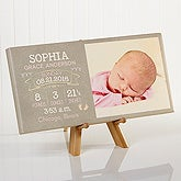 Personalized Baby Photo Canvas Print - I Am Special Birth Info - 16633