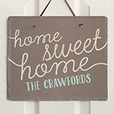 Personalized Welcome Sign - Front Door Greeting Slate Plaque - 16636