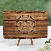 Personalized Romantic Basswood Plank - Circle Of Love - 16641