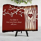 Personalized Couples Basswood Plank - Carved In Love - 16643