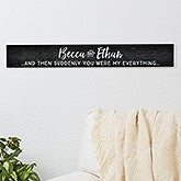 Personalized Romantic Quotes Wood Sign - 16644