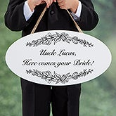 Personalized Wedding Oval Wood Sign - Write Your Own - 16646
