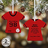 Personalized Baseball Jersey Christmas Ornaments - 16656