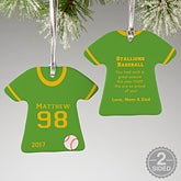 Personalized Baseball Jersey Christmas Ornaments - 16656