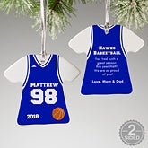 Personalized Basketball Jersey Christmas Ornaments - 16657