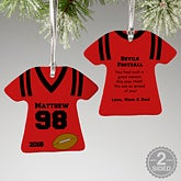 Personalized Football Jersey Christmas Ornaments - 16660