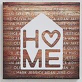 Personalized Couples Canvas Prints - Home Is Love - 16678