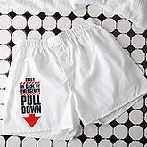 Personalized Mens Boxer Shorts - In Case of Emergency - 16681