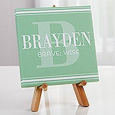 Personalized Boys Name Meaning Tabletop Canvas Print - 16689