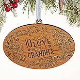 Personalized Wood Christmas Ornament - Reasons Why For Her - 16691