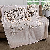 Personalized Fleece Blankets - Grandchildren Fill Our Hearts - 16692