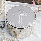 Personalized Religious Rosary Keepsake Box - Full Of Grace - 16696