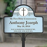 Personalize First Communion Yard Sign - May God Bless Me - 16699