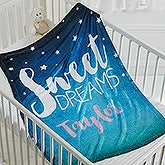 Personalized Baby Fleece Blanket - Sweet Dreams - 16702
