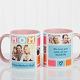 MOM Photo Collage Personalized Coffee Mug - 16708