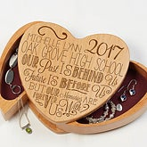 Engraved Graduation Jewelry Box - Graduation Memories - 16715