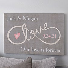 Personalized Romantic Canvas Print - For Infinity - 16725