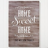 Home Sweet Home Personalized Canvas Print - 16728