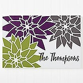 Personalized Canvas Print - Mod Floral - 16729