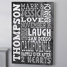Personalized Word Art Canvas Prints - Just Us - 16730