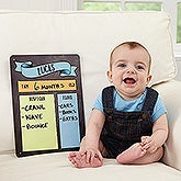 Personalized Milestone Monthly Baby Dry Erase Sign - My Baby Month By Month - 16732