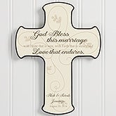 Personalized Wall Cross - Wedding Blessing - 16737