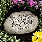 Personalized Garden Stones - Time To Smell The Flowers - 16743