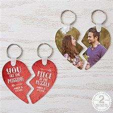 Personalized Heart Puzzle Key Chain Set - Missing Piece - 16751