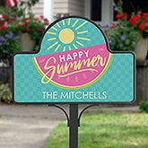 Personalized Summer Garden Stake and Magnet - Simply Summer - 16757