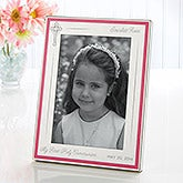 First Communion Personalized Engraved Silver Frame - 16769