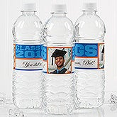 Personalized Graduation Photo Water Bottle Label - Class Of ... - 16797