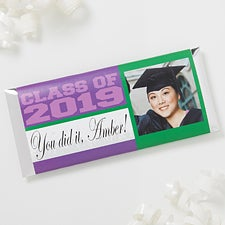 Personalized Photo Graduation Candy Bar Wrappers - Class Of - 16798