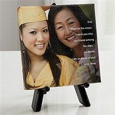 Personalized Graduation Photo Canvas Print - As You Leave Photo Sentiments - 16801