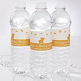 Personalized Baby Shower Water Bottle Labels - Baby Zoo Animals - 16816