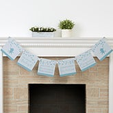 Personalized Baby Shower Paper Banner - Baby Zoo Animals - 16818