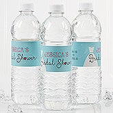 Personalized Bridal Shower Water Bottle Labels - The Dress  - 16825