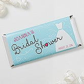 Personalized Bridal Shower Candy Bar Wrappers - The Dress - 16829