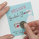The Dress Bridal Shower Personalized Scratch Off Game - 16833